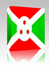 Flag of Burundi box package Stock Images