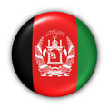 Flag Button - Afghanistan Royalty Free Stock Photo