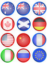 Flag buttons Stock Photo