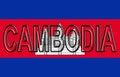 Flag of Cambodia Word.