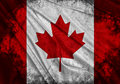 Flag of canada realistic waving Royalty Free Stock Photography