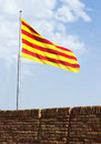 Flag catalan Stock Images