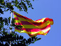 Flag of Catalonia Royalty Free Stock Photography
