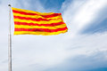 The flag of Catalonia Stock Photography