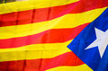 Flag of catalonia detail in spain Stock Photos