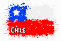 Flag of Chile from blots of paint
