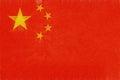 Flag of China Grunge.