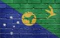 Flag of Christmas Island on brick wall Stock Photography