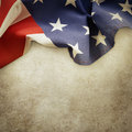 Flag closeup of american on textured background Stock Photos