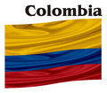 Flag of Colombia with a word
