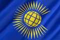 Flag of the commonwealth of nations adopted in november Stock Image