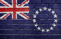 Flag of the Cook Islands on brick wall Stock Image