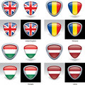 Flag Crests Stock Image