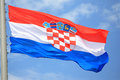 Flag of croatia against the sky Royalty Free Stock Image