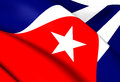 Flag of cuba close up Stock Photo