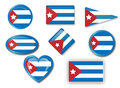 Flag of cuba for various uses by designers and printers Royalty Free Stock Photos