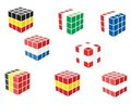 Flag cubes Stock Photo