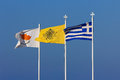 Flag of Cyprus, Greece and the Greek Orthodox Church. Royalty Free Stock Photo