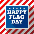 Flag Day background. USA patriotic template with text, stripes and stars for decoration in colors of american flag