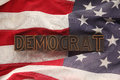 Flag with Democrat word Royalty Free Stock Photo