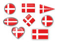 Flag of denmark for different use by designers and printers Stock Photos