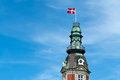 Flag of Denmark up high Royalty Free Stock Photo