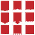 Flag Drop Buttons - Red Royalty Free Stock Photo