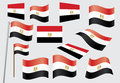 Flag of Egypt Stock Images