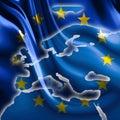 Flag of europe Royalty Free Stock Photo