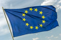 Flag of europe union closeup Stock Image