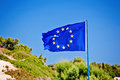Flag european union against blue sky Stock Images