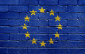 Flag of the European Union on brick wall Royalty Free Stock Images