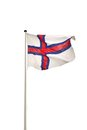 Flag of faroe islands the is an archipelago and autonomous country within the kingdom denmark it is situated between the norwegian Royalty Free Stock Photos