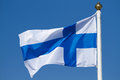 Flag of finland on a background sky Stock Photography