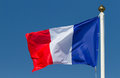 Flag of france on the blue sky Stock Photos