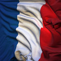 Flag of France, fluttering Stock Images