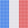 Flag france made leds bubbles Stock Images