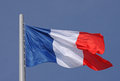 Flag of france over blue sky Stock Images