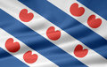Flag of Friesland - Netherlands Royalty Free Stock Images