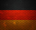 Flag of Germany on Brick Wall Stock Image