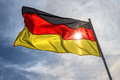 Flag germany on fky background Royalty Free Stock Images