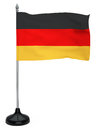 Flag germany hanging flagpole white background Stock Image