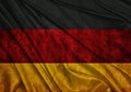 Flag of germany realistic waving Stock Photo