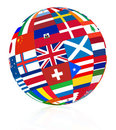 Flag globe Royalty Free Stock Photos