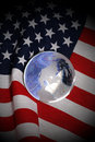Flag and globe Royalty Free Stock Photo