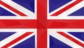 Flag, Great Britain, low poly art