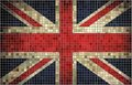 Flag of great britain mosaic abstract grunge vector Royalty Free Stock Photo