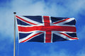Flag of great britain waving in the air Royalty Free Stock Photography