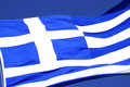 The flag of Greece Stock Photo