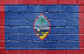 Flag of Guam on brick wall Royalty Free Stock Photography